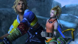 Rikku und Tidus aus Final Fantasy X