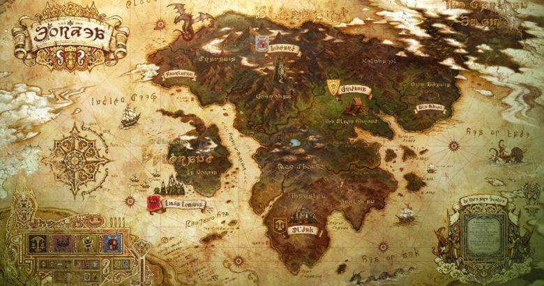 Fantasy Karte.Ffxiv Die Neue Karte In Stormblood Final Fantasy Dojo