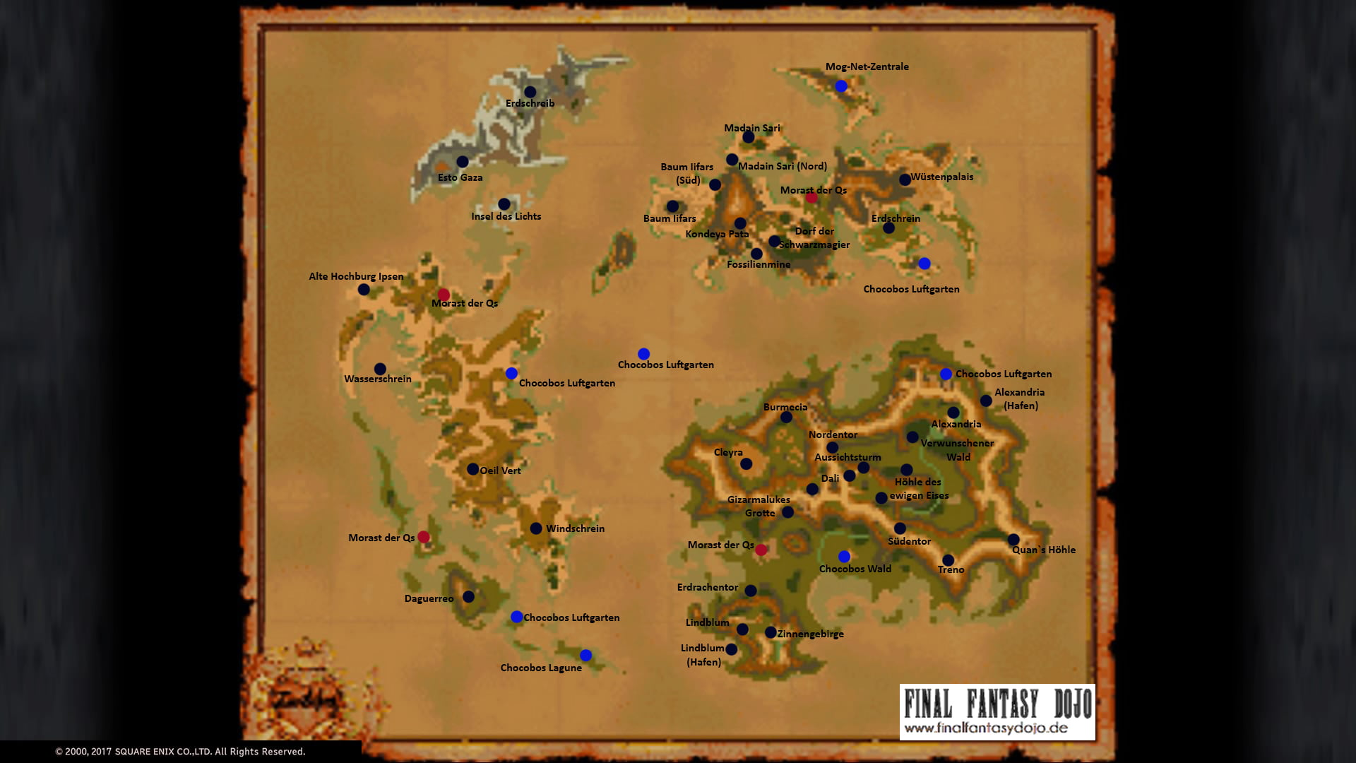 FFIX: Die Weltkarte | Final Fantasy Dojo