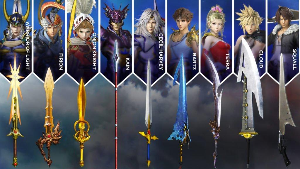 Dissida Final Fantasy NT Waffen DLC
