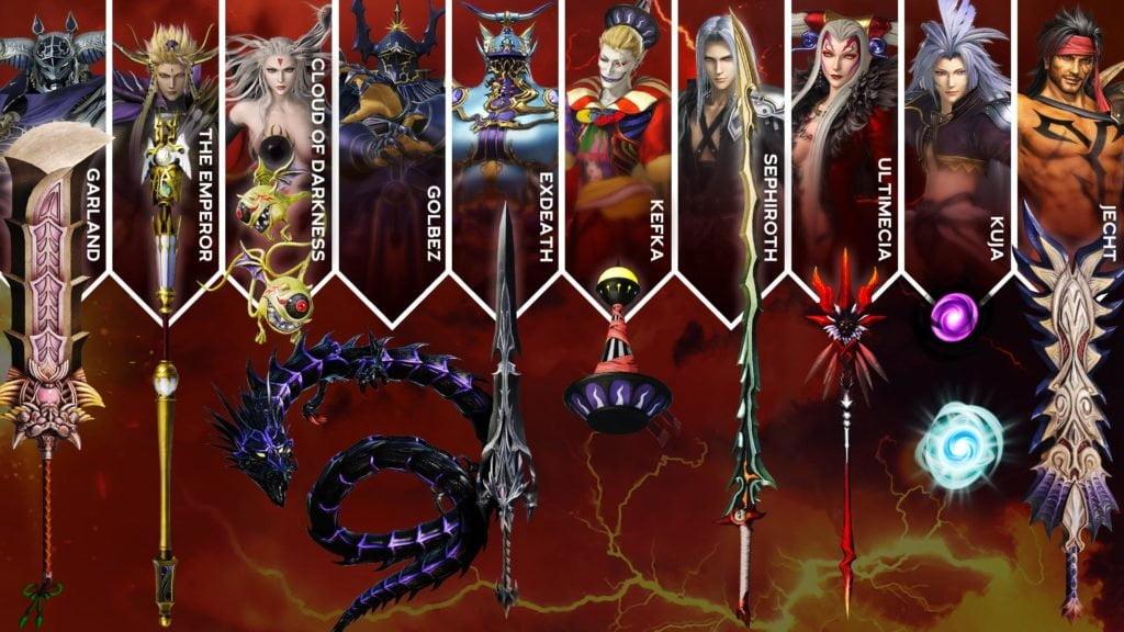 Dissida Final Fantasy NT Waffen Pack DLC