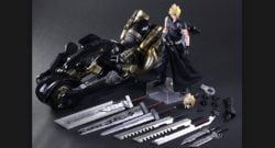 FFVII AC Play Arts -Kai- Figur Cloud Strife und Fenrir