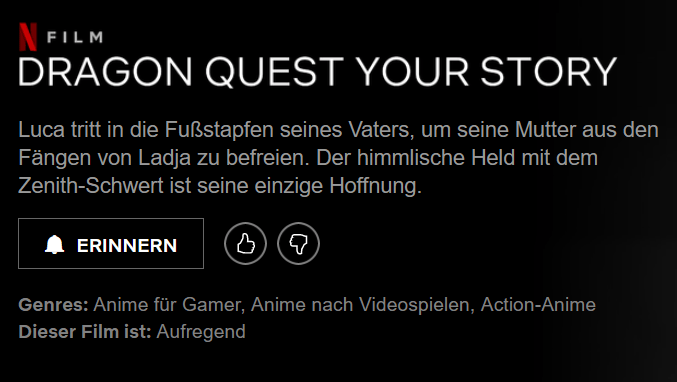 Dragon Quest: Your Story Netflix